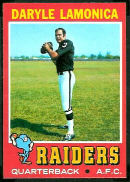 Daryle Lamonica 1971 Topps football card