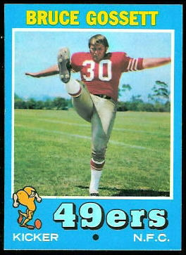 Bruce Gossett 1971 Topps football card
