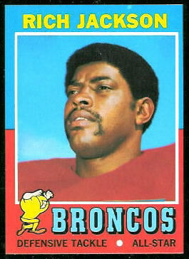 Rich Jackson 1971 Topps football card