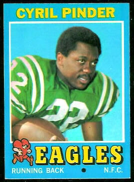 Cyril Pinder 1971 Topps football card