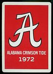 1972 Alabama football playing card back
