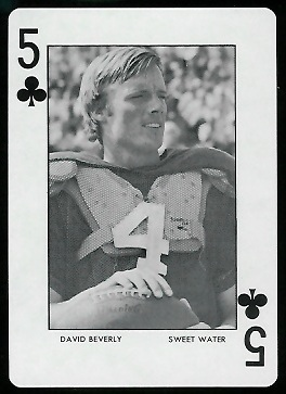 David Beverly 1972 Auburn Playing Cards football card