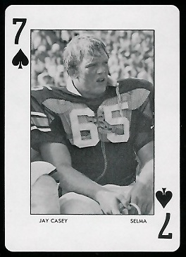 Jay Casey 1972 Auburn Playing Cards football card