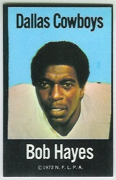 Bob Hayes 1972 NFLPA Iron Ons football card