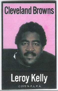 Leroy Kelly 1972 NFLPA Iron Ons football card