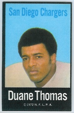 Duane Thomas 1972 NFLPA Iron Ons football card