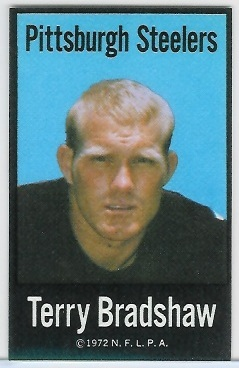 Terry Bradshaw 1972 NFLPA Iron Ons football card