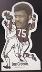 Joe Greene 1972 NFLPA Vinyl Stickers football card