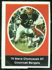 Steve Chomyszak 1972 Sunoco Stamps football card