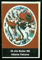 Jim Butler 1972 Sunoco Stamps football card
