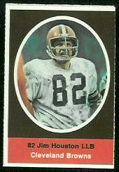 Jim Houston 1972 Sunoco Stamps football card