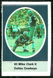 Mike Clark 1972 Sunoco Stamps football card