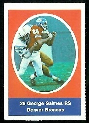 George Saimes 1972 Sunoco Stamps football card