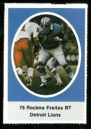 Rockne Freitas 1972 Sunoco Stamps football card