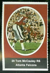 Tom McCauley 1972 Sunoco Stamps football card