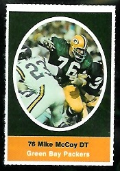Mike McCoy 1972 Sunoco Stamps football card