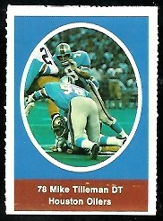 Mike Tilleman 1972 Sunoco Stamps football card