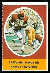 Wendell Hayes 1972 Sunoco Stamps football card