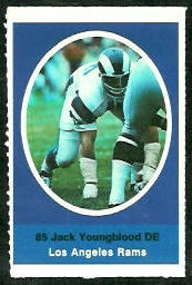 Jack Youngblood 1972 Sunoco Stamps football card