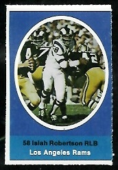 Isiah Robertson 1972 Sunoco Stamps football card