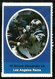 Kermit Alexander 1972 Sunoco Stamps football card