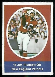Jim Plunkett 1972 Sunoco Stamps football card