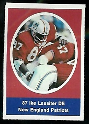 Ike Lassiter 1972 Sunoco Stamps football card