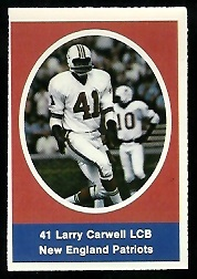 Larry Carwell 1972 Sunoco Stamps football card