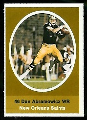 Dan Abramowicz 1972 Sunoco Stamps football card