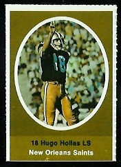 Hugo Hollas 1972 Sunoco Stamps football card