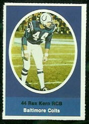 Rex Kern 1972 Sunoco Stamps football card