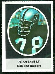 Art Shell 1972 Sunoco Stamps football card