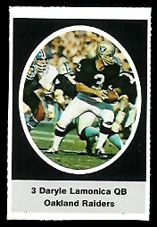 Daryle Lamonica 1972 Sunoco Stamps football card