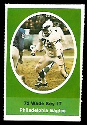 Wade Key 1972 Sunoco Stamps football card