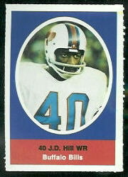 J.D. Hill 1972 Sunoco Stamps football card