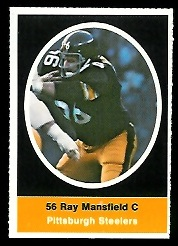 Ray Mansfield 1972 Sunoco Stamps football card