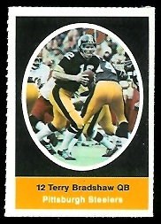 Terry Bradshaw 1972 Sunoco Stamps football card
