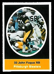 John Fuqua 1972 Sunoco Stamps football card