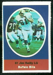 Jim Reilly 1972 Sunoco Stamps football card