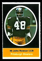 John Rowser 1972 Sunoco Stamps football card