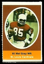 Mel Gray 1972 Sunoco Stamps football card