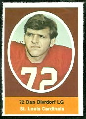Dan Dierdorf 1972 Sunoco Stamps football card