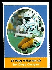 Doug Wilkerson 1972 Sunoco Stamps football card
