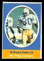 Bryant Salter 1972 Sunoco Stamps football card