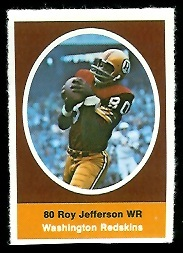Roy Jefferson 1972 Sunoco Stamps football card