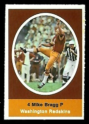 Mike Bragg 1972 Sunoco Stamps football card