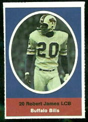 Bob James 1972 Sunoco Stamps football card