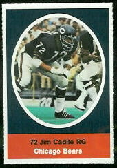 Jim Cadile 1972 Sunoco Stamps football card