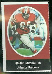 Jim Mitchell 1972 Sunoco Stamps football card