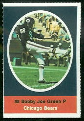 Bobby Joe Green 1972 Sunoco Stamps football card